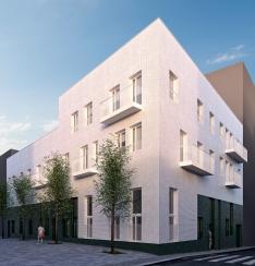 10 viviendas en la calle homer,arquitectura. Manrique Planas